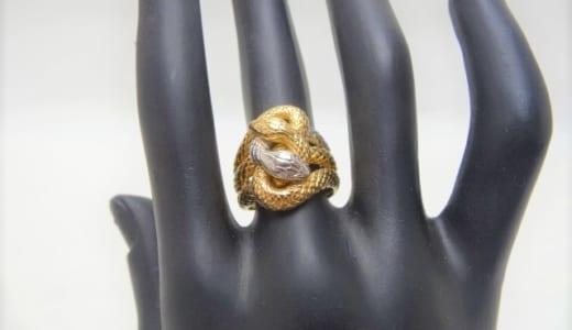 蛇 プラチナ 金 リング 山梨県 買取 スマイルワールド石和店 高価買取実績 ジュエリー ブランド ショップ